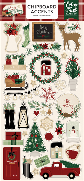 ACC189021 A Cozy Christmas Chipboard Accents