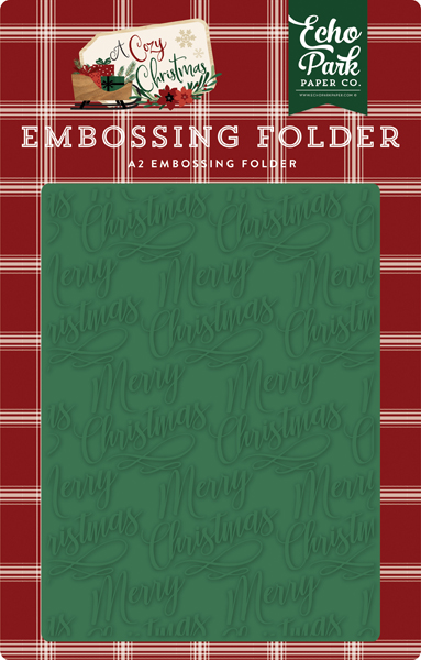ACC189033 Merry Christmas Embossing Folder