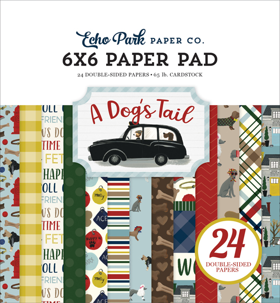 ADT155023 A Dogs Tail 6x6 Paper Pad Cover
