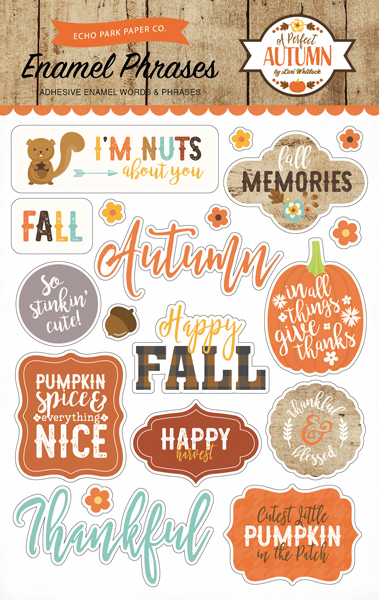 APA132062 Perfect Autumn Enamel Phrases F