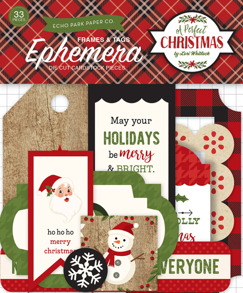 APC135021 A Perfect Christmas Frames & Tags Ephemera (front)