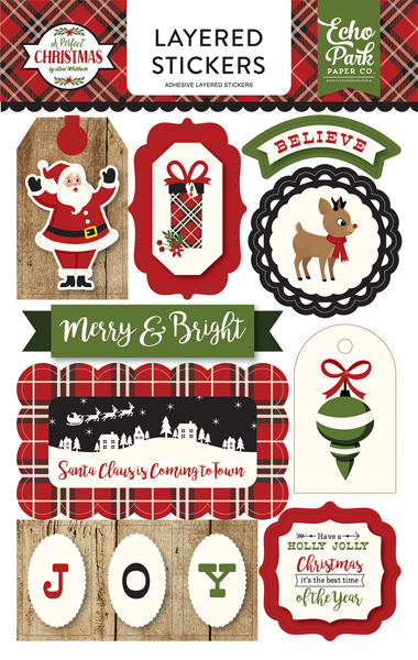 APC135025 A Perfect Christmas Layered Stickers