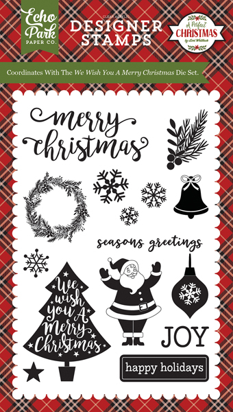 APC135044 We Wish You A Merry Christmas 4X6 Stamp