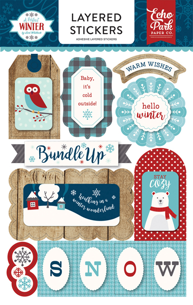 APW136025 A Perfect Winter Layered Stickers