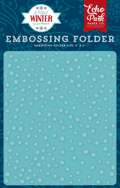 APW136031 Embossing Folder - Snow Day