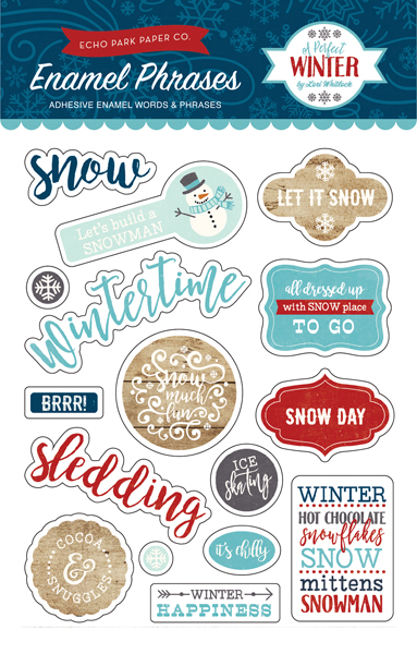 APW136062 A Perfect Winter Enamel Words & Phrases