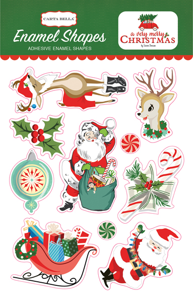CBVMC72061 A Very Merry Christmas Enamel Shapes