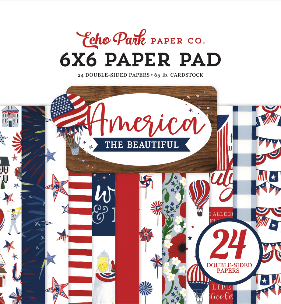 ATB192023 America The Beautiful 6x6 Paper Pad Cover