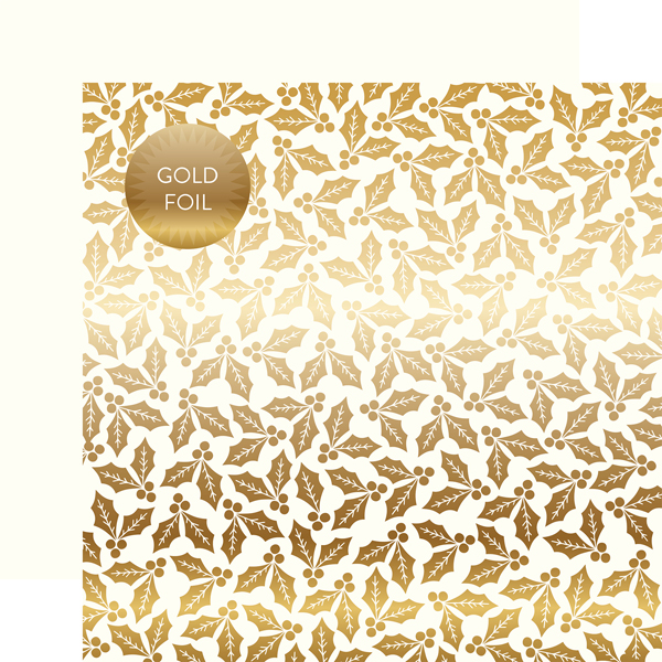 Carta Bella Paper Company Holly /& Berries Gold Foil Collection Kit