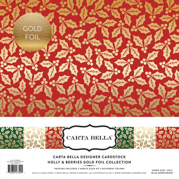 Holly Berries Gold Foil