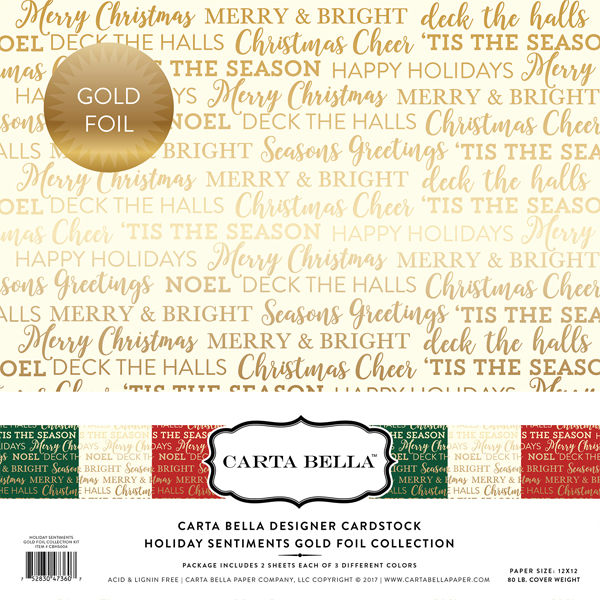Holiday Sentiments Gold Foil
