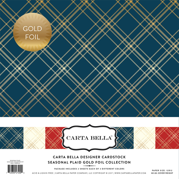 Seasonal Plaid Gold Foil