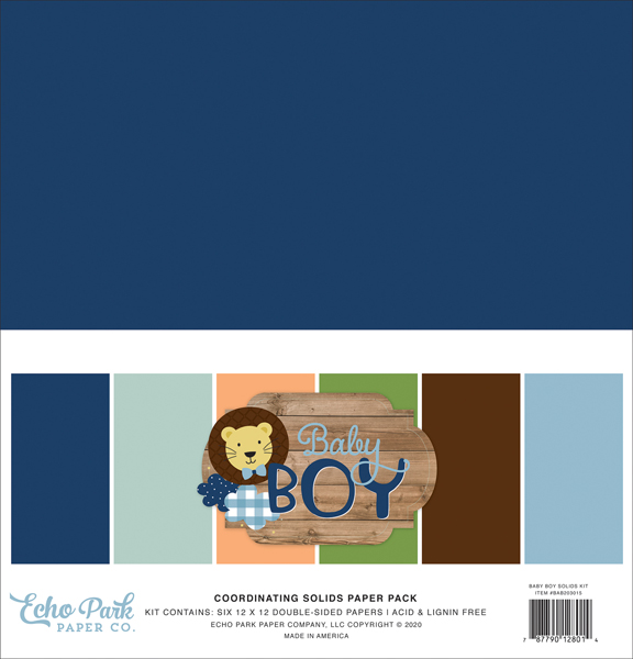white navy red blue Echo Park Paper Company America The Beautiful Solids Kit paper