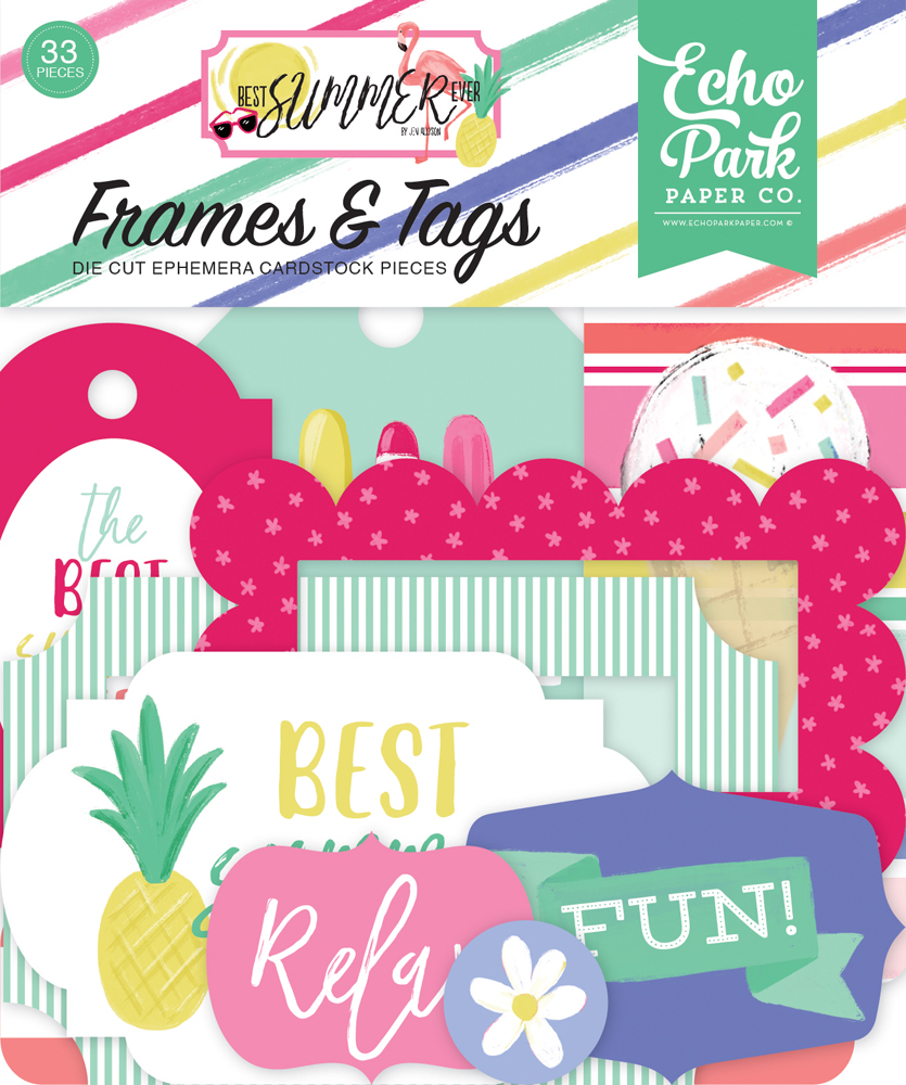 BS182025 Best Summer Ever Frames & Tags Ephemera