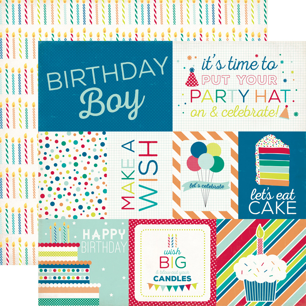 Collections Echo Park Paper Co Birthday Boy