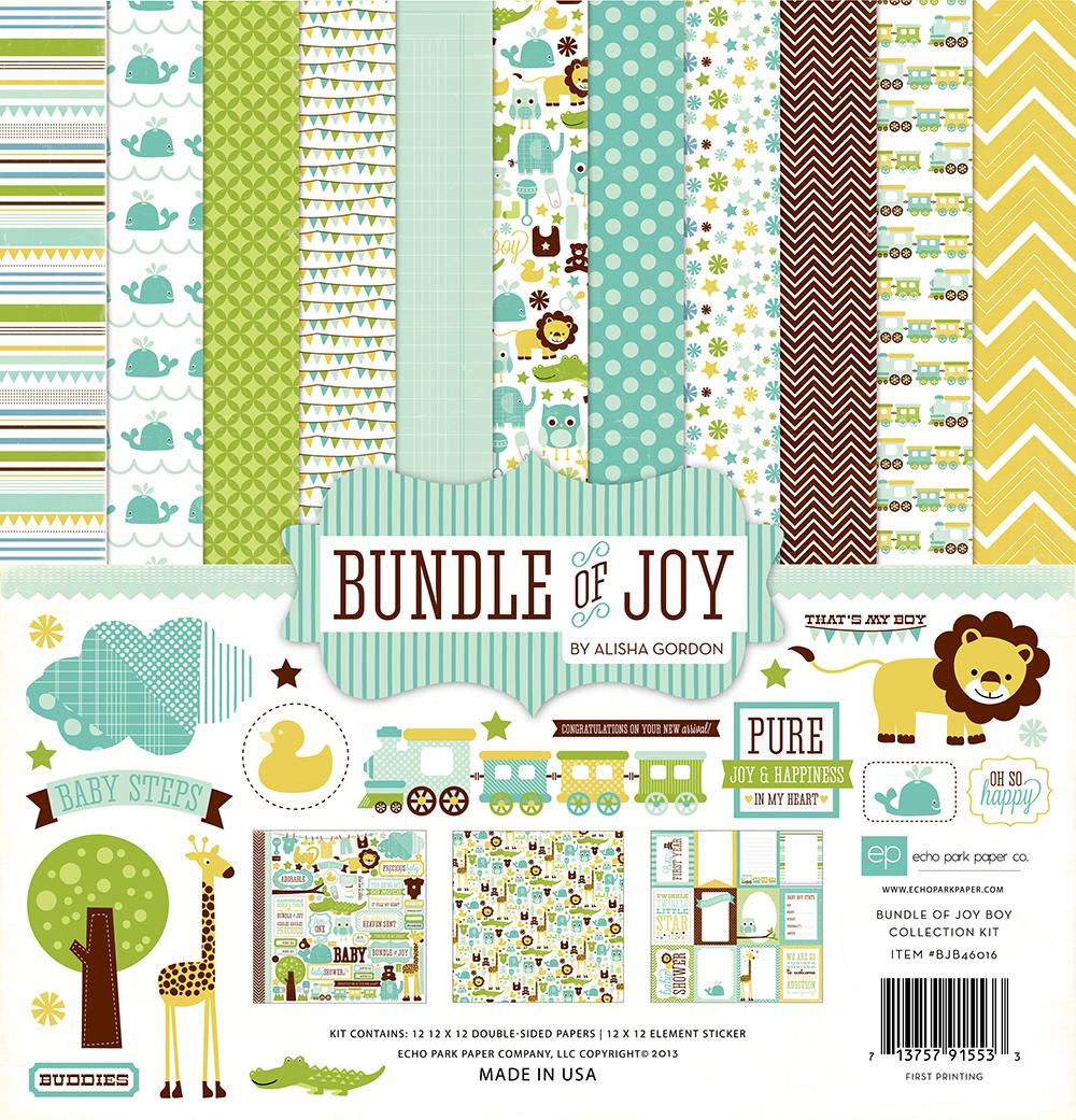 Scrapbook paper echo park - Bjb46015 Alpha Stickers Baby Boy Collection