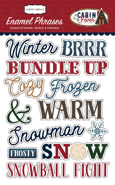 CBCF73062 Cabin Fever Enamel Words & Phrases