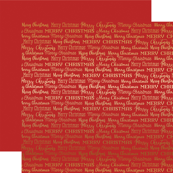 cbfme002 red merry christmas words gold foil - Merry Christmas Words