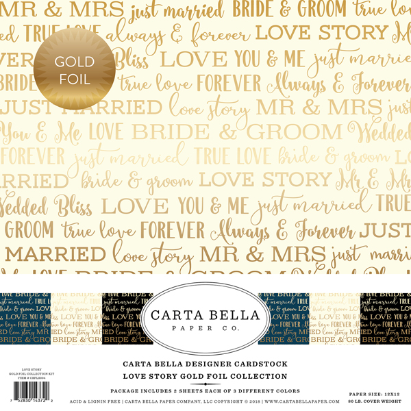 Carta Bella Foil Love Story