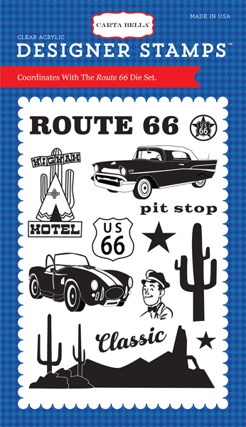 CBCAR69042 Route 66 Stamp