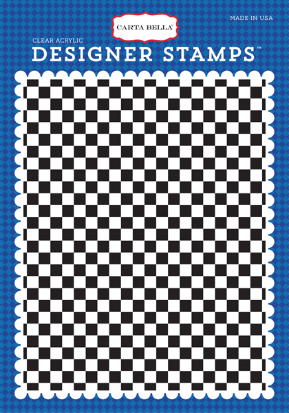 CBCAR69045 Checkered Flag A2 Stamp Front