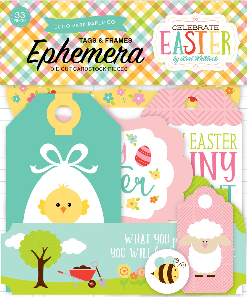 CE121021 Celebrate Easter Frames & Tags Ephemera
