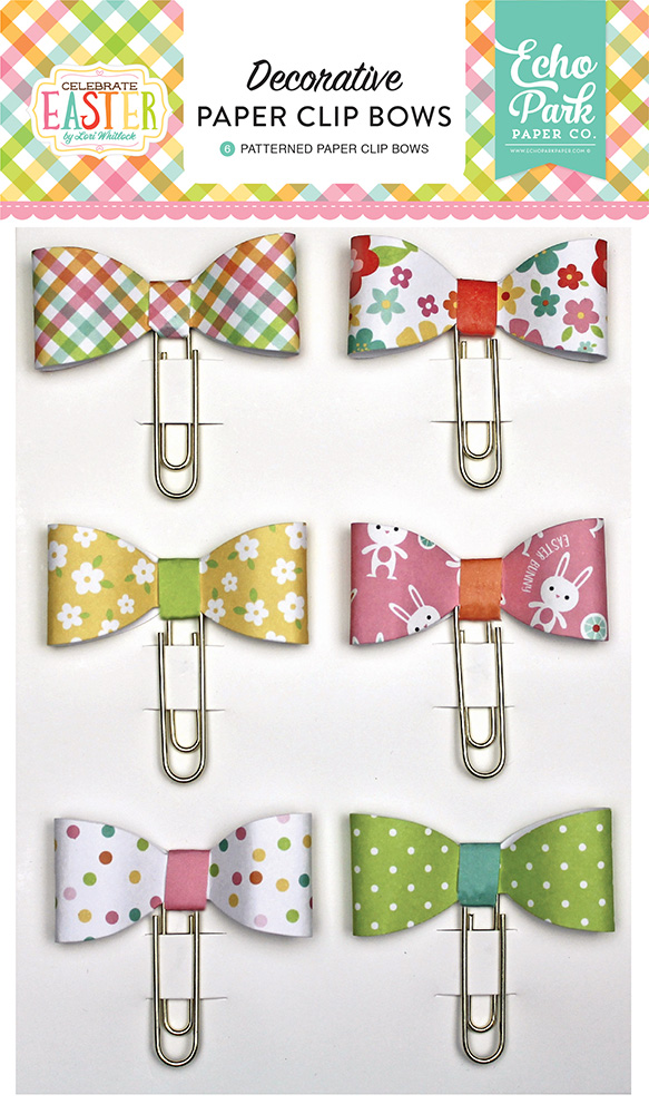 CE121062 Celebrate Easter Paper Clip Bows