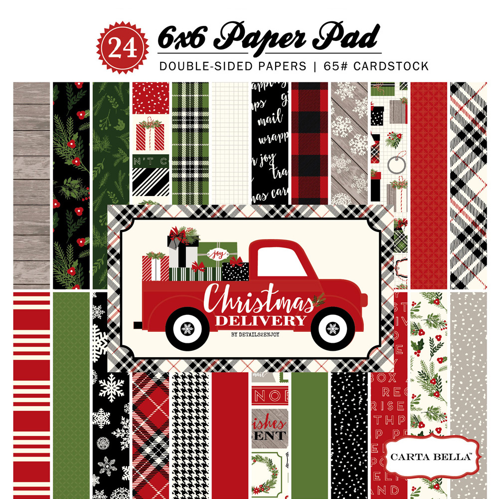 CBCD58015 Christmas Delivery 6x6 Paper Pad