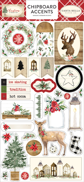 CBCH89021 Christmas 6x12 Chipboard Accents