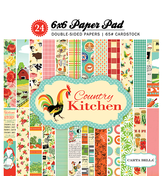 CBCK76015 Country Kitchen 6x6 Paper Pad