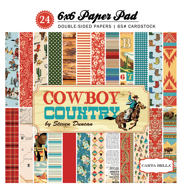 CBCC77015 Cowboy Country 6x6 Paper Pad