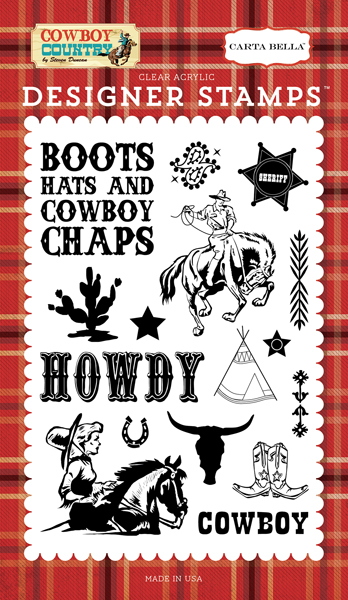 CBCC77043 Howdy Cowboy Stamp