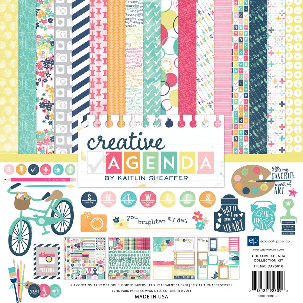 Scrapbook paper echo park - Ca70015 Alpha Stickers Ca70016 Creative Agenda Collection Kit