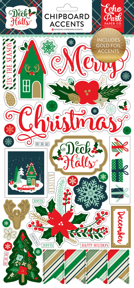 DH116022 Deck Halls 6x12 Chipboard