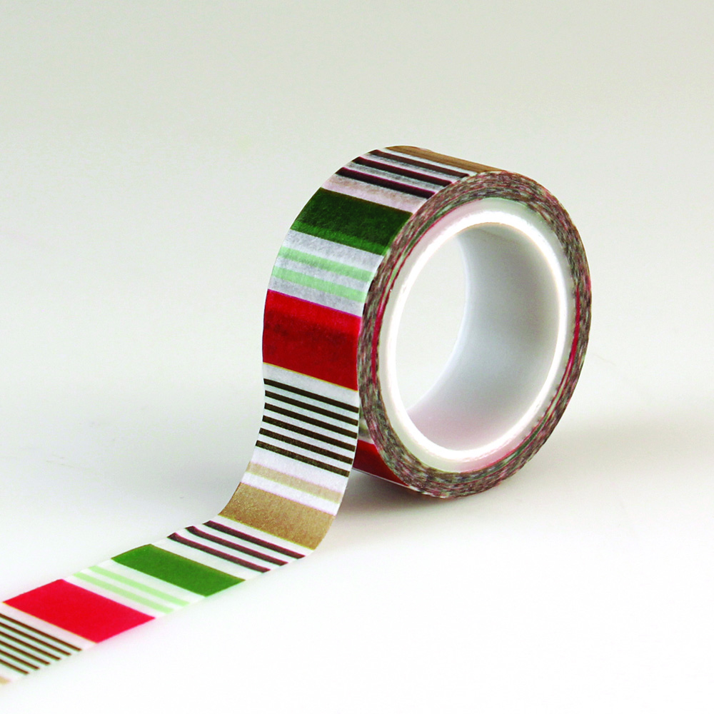 DH116027 Decorative Tape - Holiday Stripe