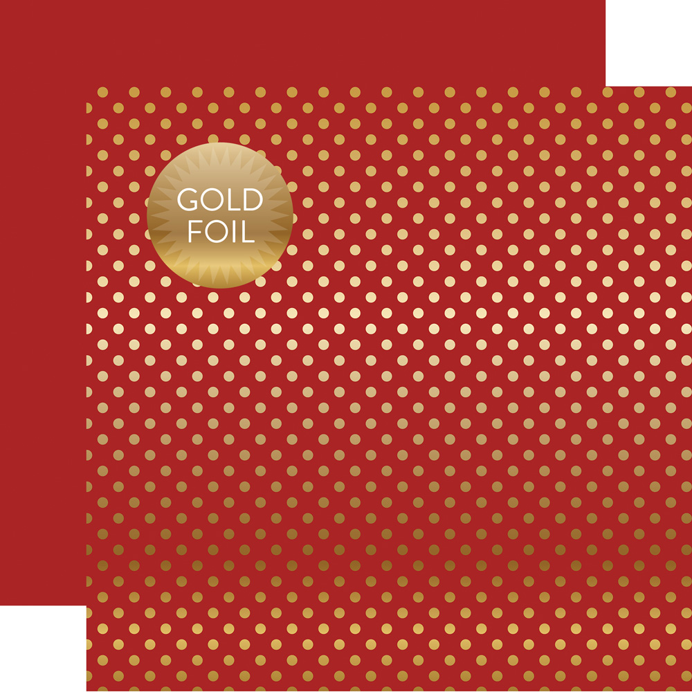 DSF16041 Gold Foil Red