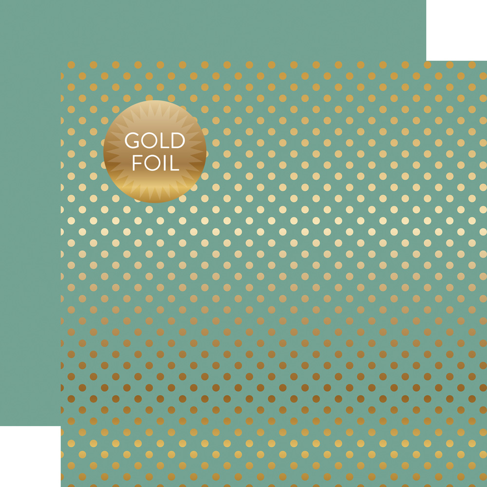 DSF16045 Gold Foil Teal