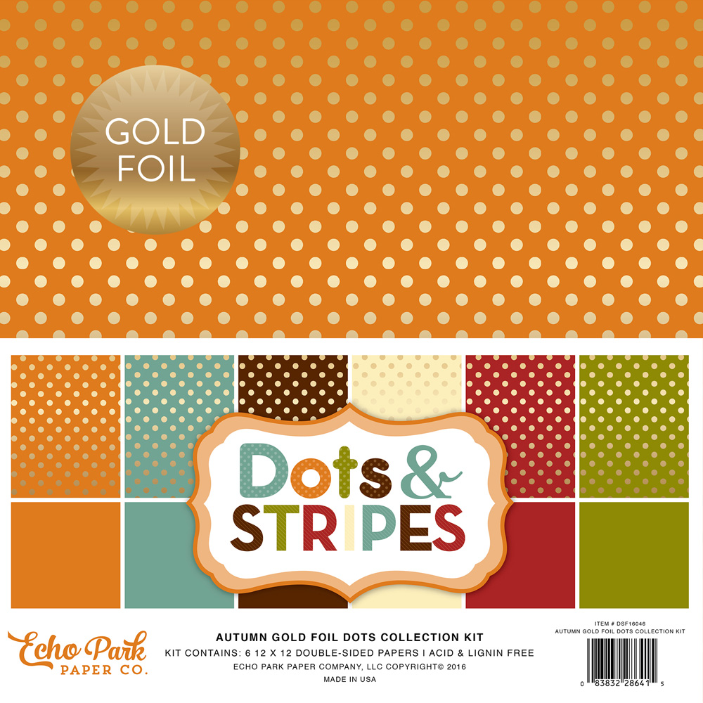DSF16046 Gold Foil Dots Cover