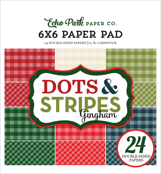 GH18046 Christmas Gingham 6x6 Paper Pad Cover