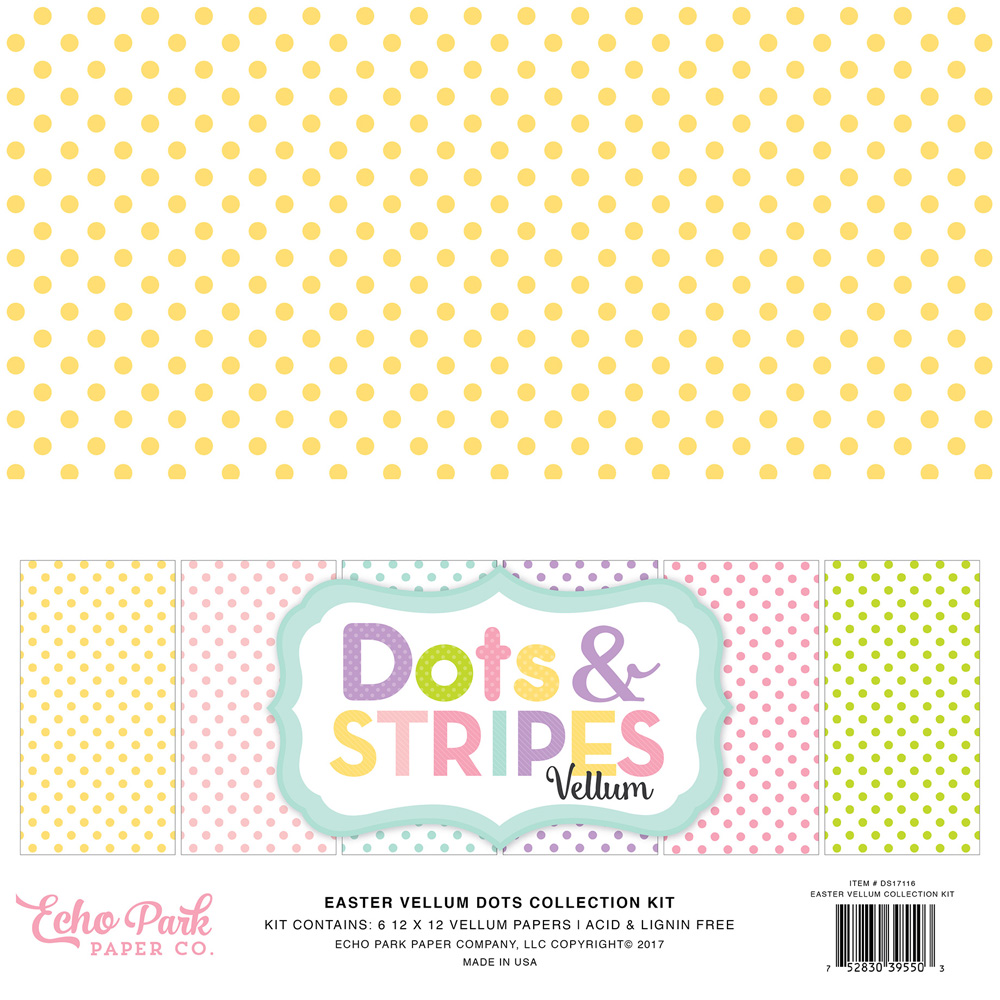 collections echo park paper co vellum dots amp stripes