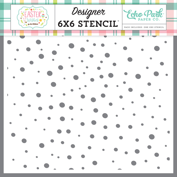 EW174034 Speckled Egg Stencil