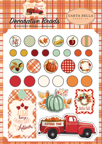 CBFA88020 Fall Break Decorative Brads