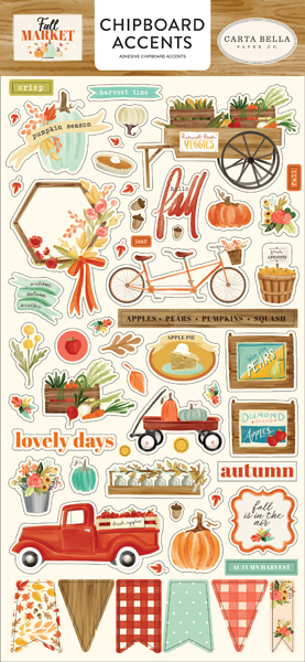 CBFAM105021 Fall Market 6x13 Chipboard Accents