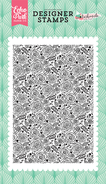FA139043 Dainty Rose 4x6 Stamp