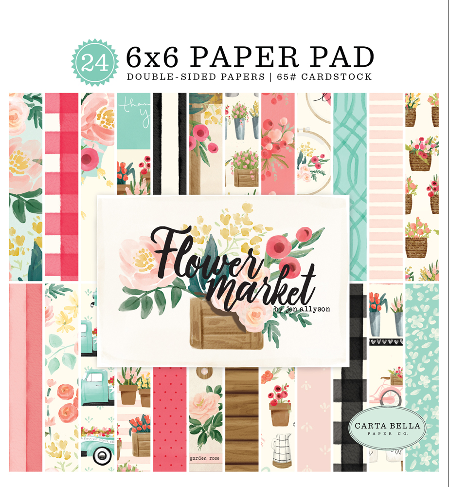 CBMK96023 Flower Market 6x6 Paper Pad Cover