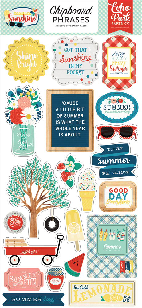 GDS149022 Good Day Sunshine 6x12 Chipboard Phrases