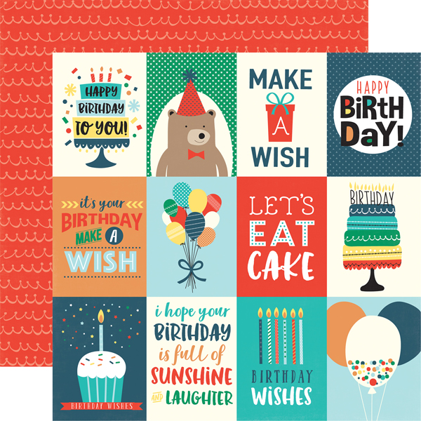 Happy Birthday Boy HBB141002 3x4 Journaling Cards
