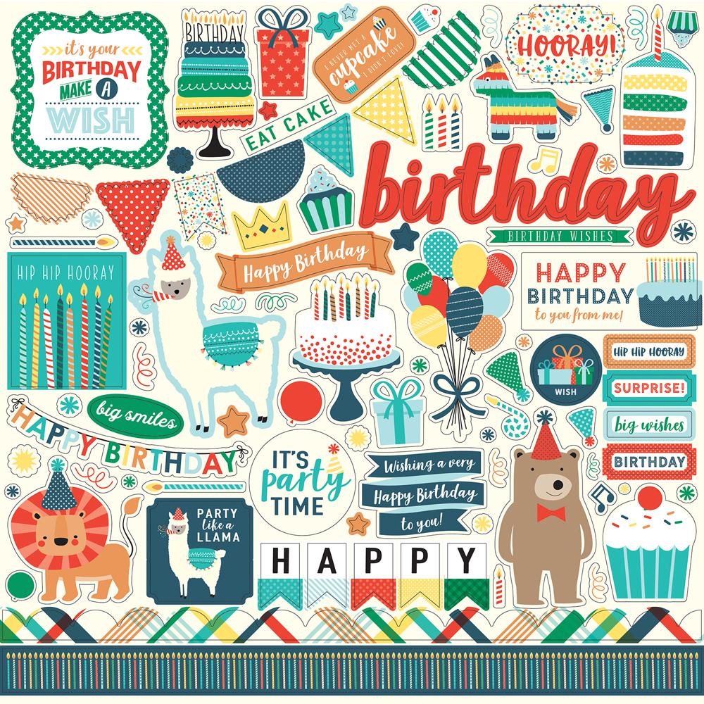 HBB141014 Happy Birthday Boy Element Sticker