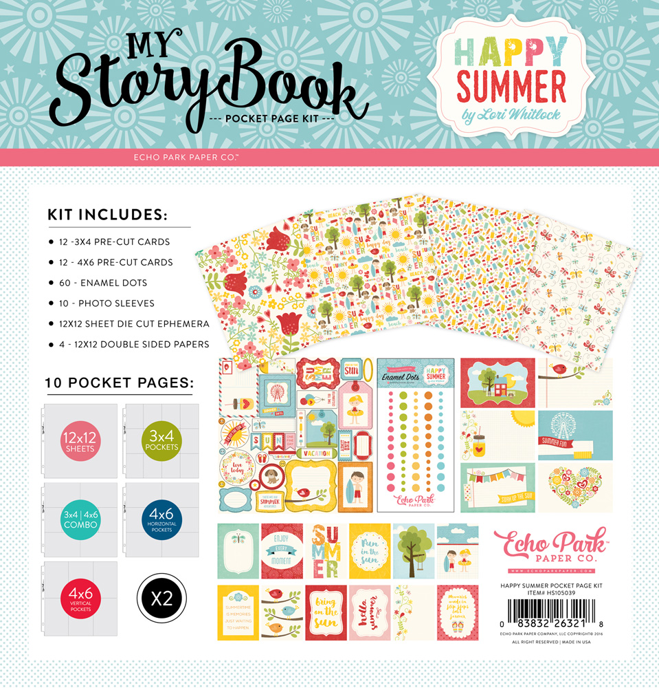 HS105039 Happy Summer Pocket Page Kit