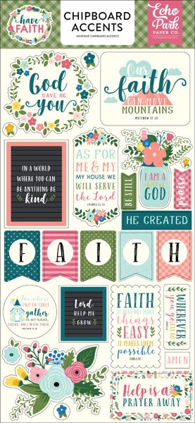 HAF152021 Have Faith 6X13 Chipboard Accents